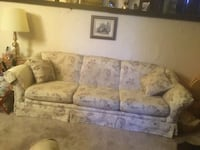 brown and beige floral 3-seat sofa Calgary, T2K 4V2
