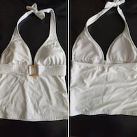 White tankini swimsuit top size small
