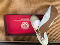 Vince camuto ellen baby blue ballet flats with box