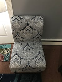 white and gray floral padded chair Brentwood, 11717
