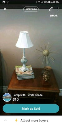lamp with destressed base