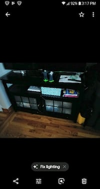 black wooden TV stand ONLY Bronx, 10459
