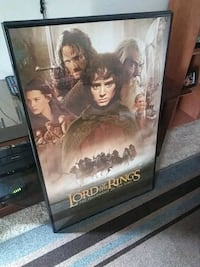 Lord Of The Rings framed poster Rocklin