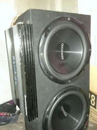 12in woofer package ,very hard hitting bass price can be negotiated