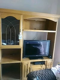 Entertainment System(Real Wood & Lights) & Working Flat Screen TV Woodbridge, 22191
