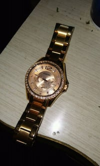 round silver-colored chronograph watch with link bracelet Youngstown, 44511
