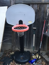 black, red, and white Little Tikes basketball system Mississauga, L5M 6E6