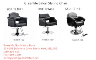 Greenlife NorthYork Salon/Styling/Barber Chair From$180!