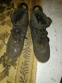 pair of black leather boots Mississauga, L4W