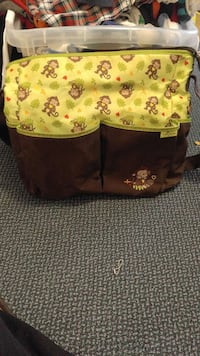 brown and yellow monkey print bag Kansas City, 66104