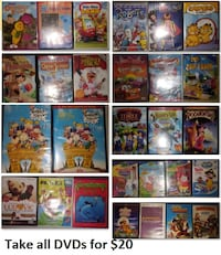 DVDs - Kids Various Lot 2 (Take all 28 DVDs for $20) Mississauga