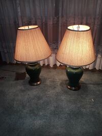 two brown-and-white table lamps Baltimore, 21206