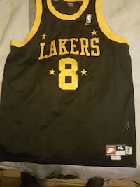 black and yellow Los Angeles Lakers 8 jersey shirt Baton Rouge, 70811