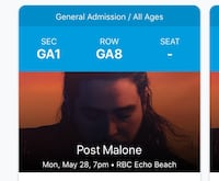 2 POST MALONE CONCERT TICKETS