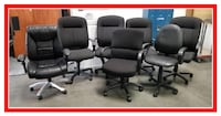 * BLACK OFFICE CHAIRS * can deliver Rancho Cucamonga