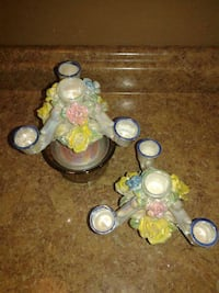 $5/2 Tornasol candle holders