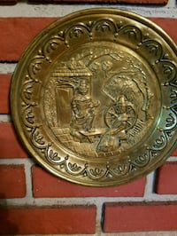 Decorative embossed brass wall plate from England  Virginia Beach, 23452