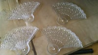 Crystal/glass fan plates from the 1940's Hesperia, 92344