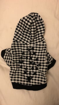 black and white checkered hoodie dog clothes