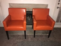 two red leather padded armchairs San Antonio, 78218