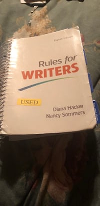 Rules for writers guide Nokesville, 20181