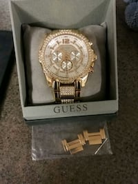 Guess Mens Rose Gold Chronograph Watch Abbotsford