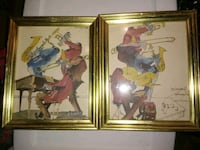 2 signed new orleans jazz style water color paintings Friendsville, 37737