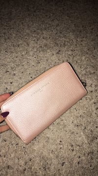 pink leather wallet Wilson, 27896