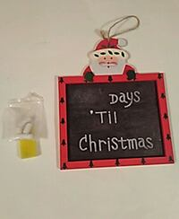 Christmas countdown chalkboard New Orleans, 70122
