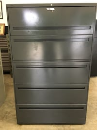 5-Drawer Gray Lateral File Cabinets  (Qty of 10) Clover, 29710