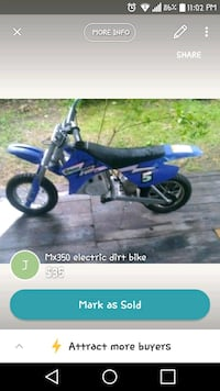 Needs throttle cable and charger mx350 dirt bike  Fort Smith
