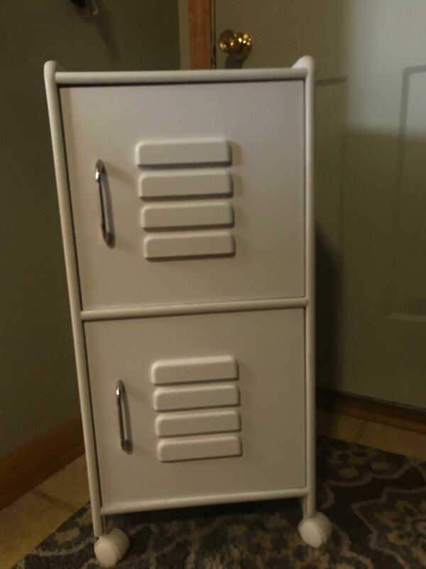 Boys bedroom night stand (looks like a locker for a sports theme)
