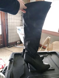 High knee high heel boots Kansas City, 64127