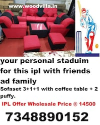 sofaset 3.1.1.2puffy center table only at 14500 Bengaluru, 560006