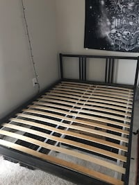 Full sized bed frame with mattress
