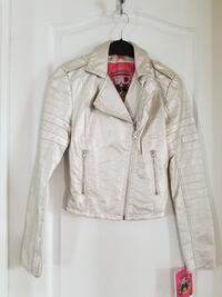 NWT Silver Faux Leather Jacket XS paid $78