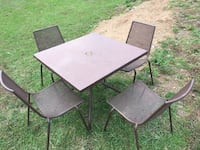 Metal outdoor table and chairs Frederick, 21703