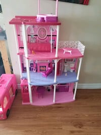 Barbie camper bus n doll house  can sell separately.   Toronto, M9M 0G3