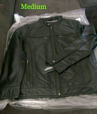 New Men's Milwaukee Leather Zip Front Classic Moto Leather Jacket Lake Forest