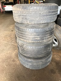 OEM MERCEDES BENZ RIMS 19x9.5x19x8.5 offset is ET 43 Two Dunlop 225/45/19 Two continental 235/45/19 open to offers please be reasonable and low ballers will be ignored Toronto
