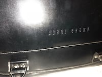 black leather limited edition BOBBI BROWN train makeup case Vancouver