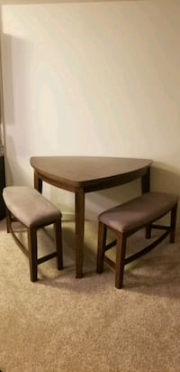 Dining Room Table with Two Benches