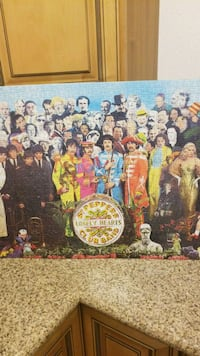 The Beatles Puzzle art poster Los Angeles, 90011