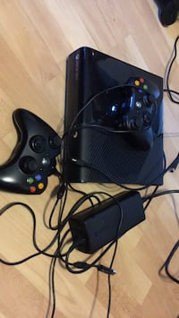 Black xbox 360 console with controller London, N6G 2H5