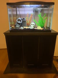 Fish tank with wood stand 552 km