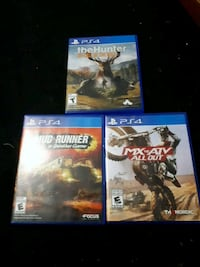 three Sony PS4 game cases 645 km
