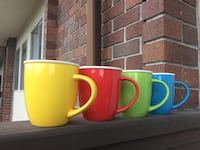 Mug set 4 piece 13,5 oz / 400ml never used, blue green red yellow Нью-Вестмінстер, V3M 5K5