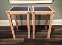 Oak side tables with marble insert Toronto, M4E 3H8