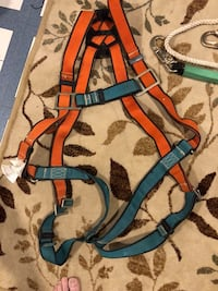 MSA Vest type climbing harness with ropes and clamps Frederick, 21702