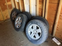 "Jeep Wrangler jku 5x5 wheels only $200 17"" factory North Vancouver, V7P"